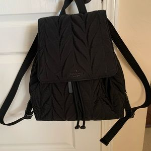 Kate Spade Black Quilted Babybag/ Backpack